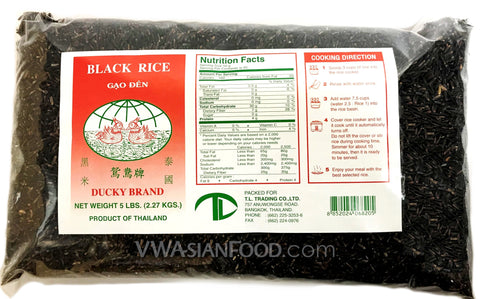 Ducky Black Cargo Rice, 5-Pound Bag (10-Count)