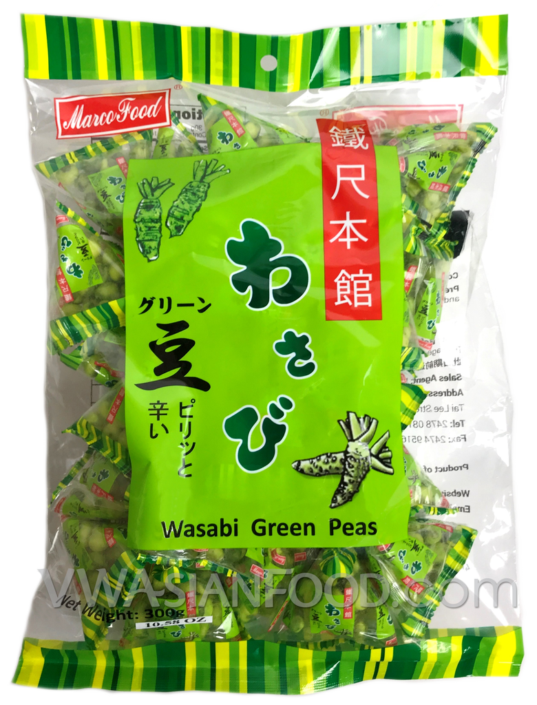 Marco Food Wasabi Green Peas,  10.5oz (10-Count)