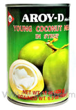 Aroy-D Young Coconut Meat in Syrup, 15 oz (24-Count)