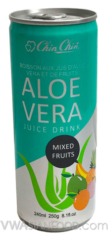 Chin Chin Aloe Vera Juice Drink Mixed Fruits, 8 oz (24-Count)