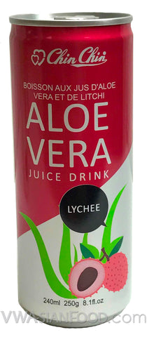Chin Chin Aloe Vera Juice Drink Lychee, 8 oz (24-Count)
