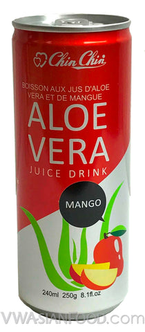 Chin Chin Aloe Vera Juice Drink Mango, 8 oz (24-Count)