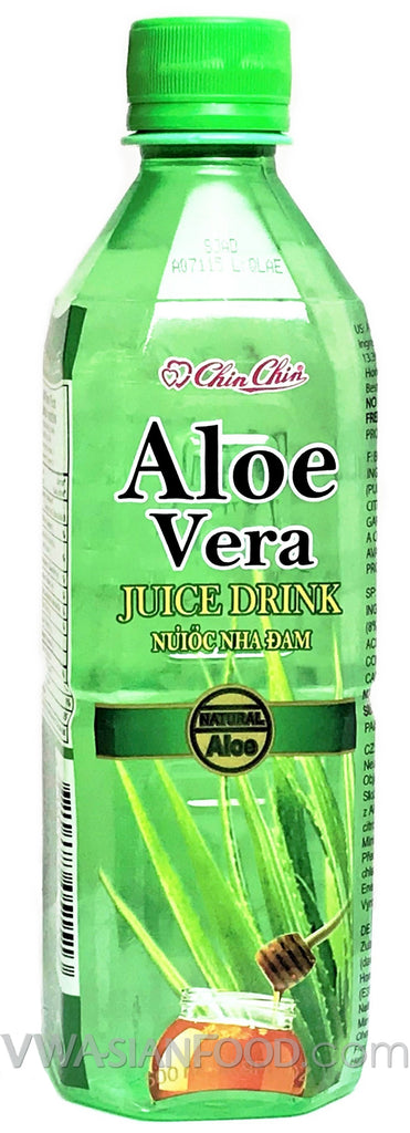 Chin Chin Aloe Vera Juice, 16.9 oz (24-Count)