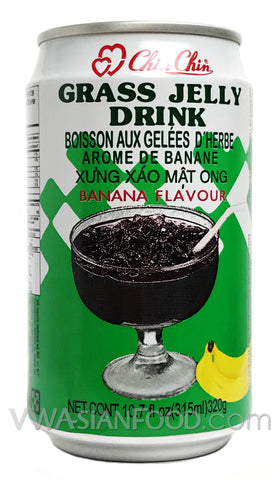 Chin Chin Grass Jelly Drink (Banana), 10.7 oz (24-Count)