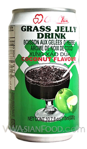 Chin Chin Grass Jelly Drink (Coconut), 10.7 oz (24-Count)