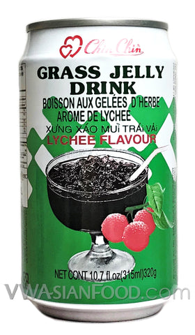 Chin Chin Grass Jelly Drink (Lychee), 11 oz (24-Count)