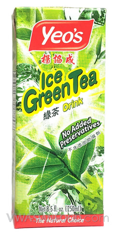 Yeo's Ice Green Tea Drink (Box 6-Pack) 8.5 oz (4-Count)