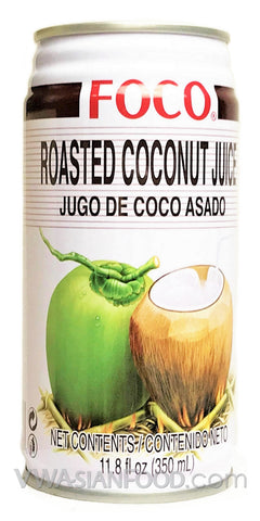 FOCO Roasted Coconut Juice, 11.8 oz (24-Count)