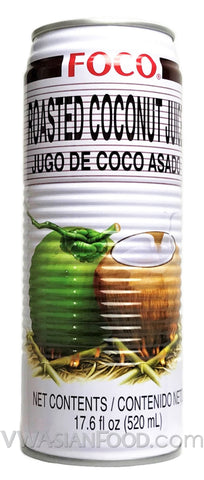 FOCO Roasted Coconut Juice, 18.4 oz (24-Count)