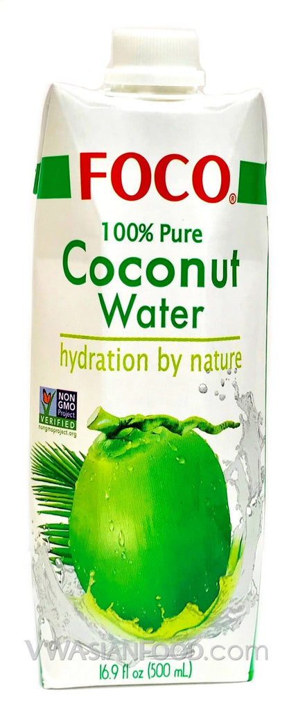 FOCO 100% Pure Coconut Water, 16.9 oz (12-Count)