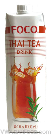 FOCO Thai Tea Drink, 33.8 oz (12-Count)