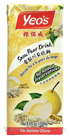 Yeo's Snow Pear Drink (Box 6-Pack) 8.5 oz (4-Count)