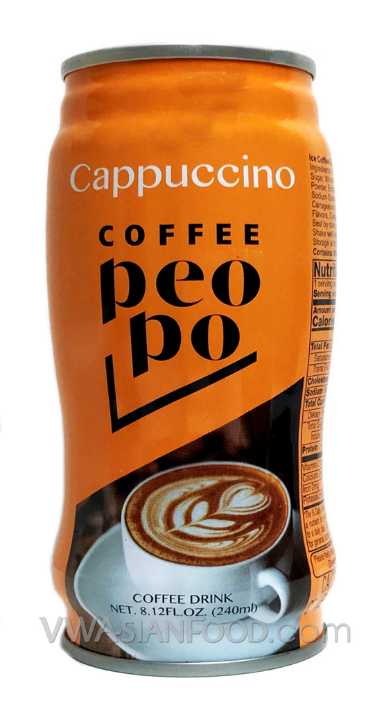 Peopo Coffee Cappuccino 8.12oz (24-Count)