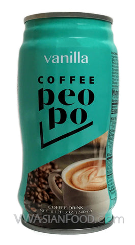 Peopo Coffee Vanilla 8.12oz (24-Count)