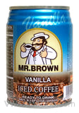 Mr. Brown Iced Coffee Vanilla, 8.12 oz (24-Count)