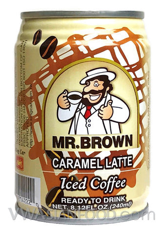 Mr. Brown Caramel Latte Iced Coffee, 8.12 oz (24-Count)