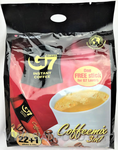 G7 Instant 3-In-1 Coffee (0.56 oz), 23-Sticks (24-Packs)