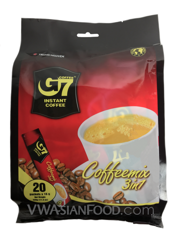 G 7 Instant 3-In-1 Coffee 20-Sticks (24-Packs)