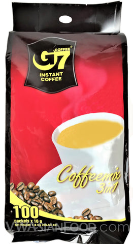 G7 Instant 3-In-1 Coffee (0.56 oz), 100-Sticks (5-Packs)