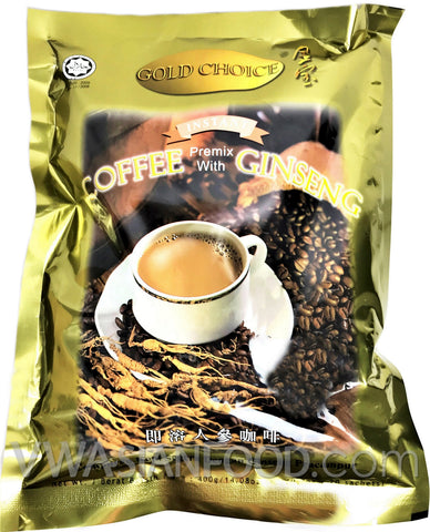 Gold Choice Instant Ginseng Coffee, 0.7 oz (24-Count)