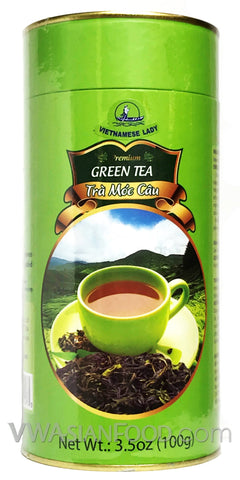 Vietnamese Lady Green Tea, 3.5 oz (50-Count)