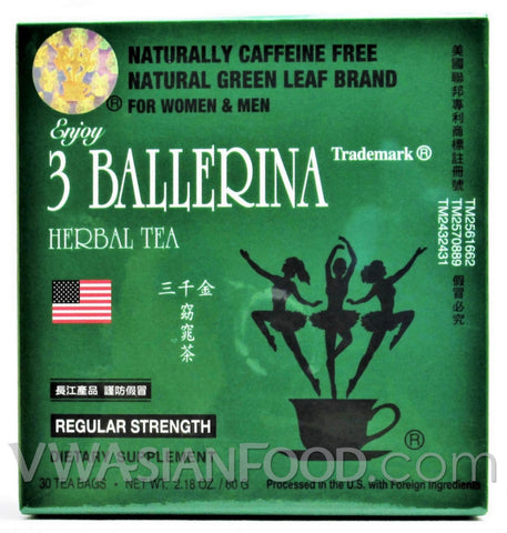 3 Ballerina Herbal Tea (Dieters, Regular Strength), 24 oz (30-Count)