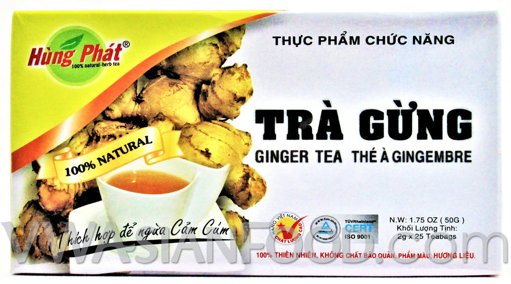 Hung Phat Ginger Tea (Tra Gung) 1.75 oz, 10-Boxes (10-Packs)