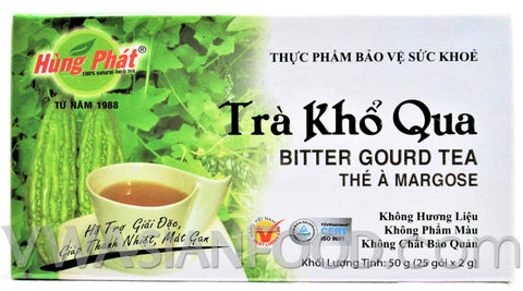 Hung Phat Bitter Gourd Tea (Tra Kho Qua) 1.75 oz, 10-Boxes (10-Packs)