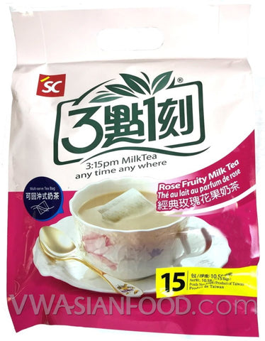 3:15 Milk Tea (Rose Fruity) 10.58 oz, 15-Bags (12-Count)