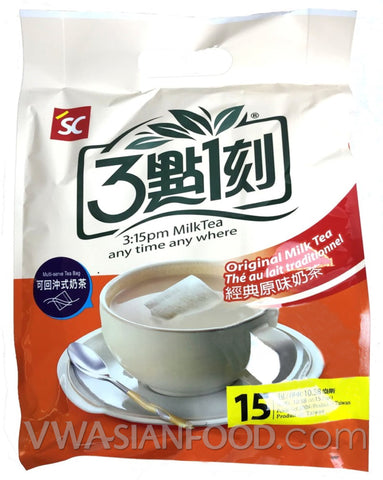 3:15 Milk Tea (Original) 10.58 oz, 15-Bags (12-Count)
