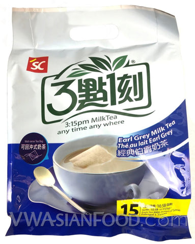 3:15 Milk Tea (Earl Grey) 10.58 oz, 15-Bags (12-Count)