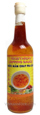 Vietnamese Lady Vegetarian Dipping Sauce (Pha Sẵn), 22 oz Bottle (12-Count)