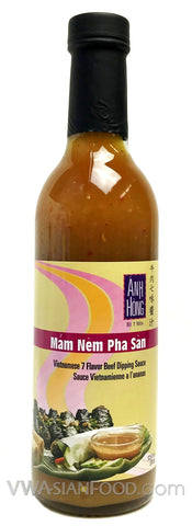 Anh Hong Anchovy Fish Sauce Dipping (Mam Nem Pha San), 12.5 oz Bottle (12-Count)