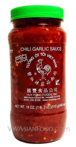 Huy Fong Chili Garlic Sauce, 18 oz (12-Count)