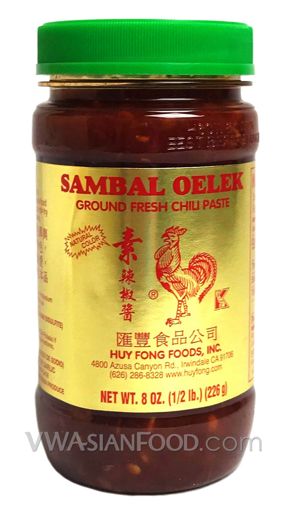 Huy Fong Sambal Oelek Ground Fresh Chili Paste, 8 oz (24-Count)