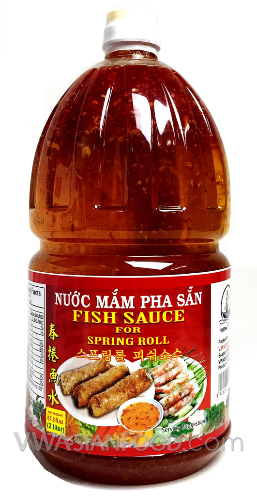 Vietnamese Lady Fish Sauce Dipping (Pha Sẵn), 67.8 oz Bottle (6-Count)