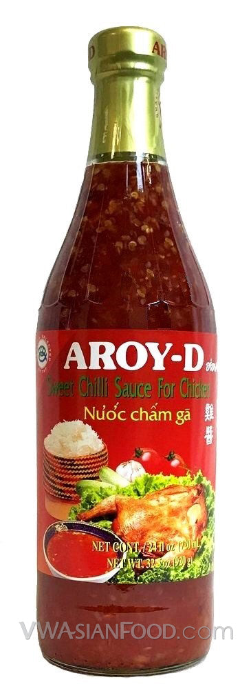 Aroy-D Sweet Chili Sauce for Chicken, 32 oz Bottle (12-Count)