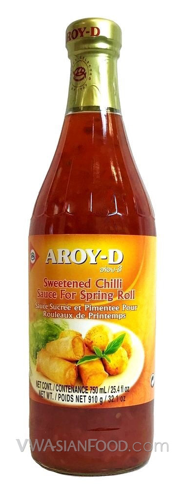 Aroy-D Sweet Chili Sauce for Spring Roll, 32 oz Bottle (12-Count)