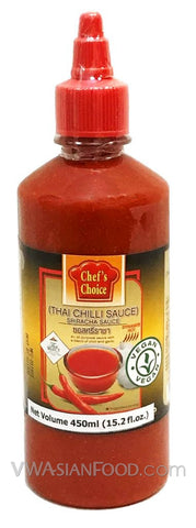 Chef's Choice Sriracha Thai Chili Sauce Bottle, 15.2 oz (12-Count)