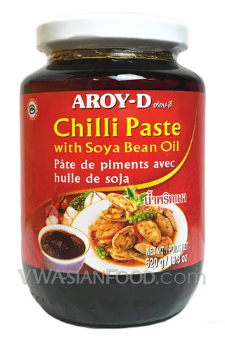 Aroy-D Chilli Paste with Soybean Oil, 18.3 oz Jar (24-Count)