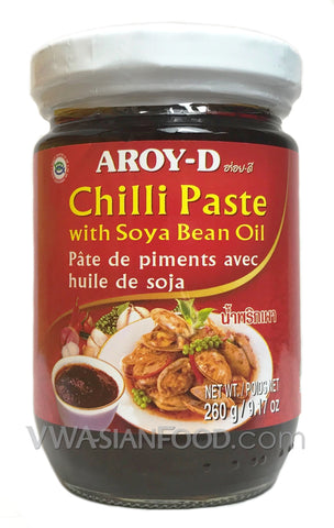 Aroy-D Chilli Paste with Soybean Oil, 9.17 oz Jar (48-Count)