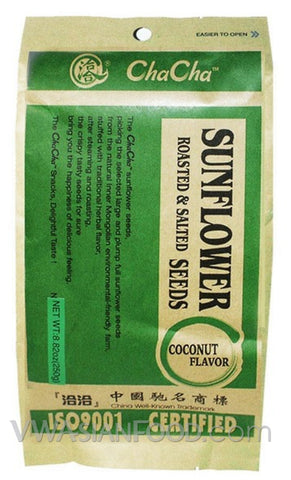 ChaCha Coconut Flavor Sunflower Seeds, 8.82 oz (18 Count)