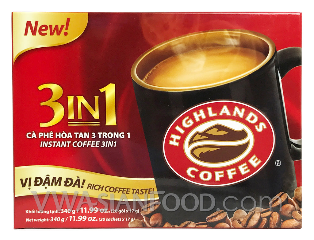 Highlands Instant 3-In-1 Coffee (17 g), 50-bags ( 20 Box)
