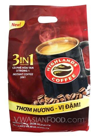 Highlands Instant 3-In-1 Coffee (17 g), 50-bags ( 10 Packs)
