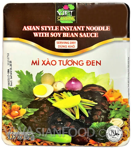 Viet Cuisine Asian Style Instant Noodle with Soy Bean Sauce 3.17 oz, 12-Bowls (3-Packs)