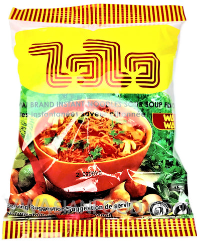 Wai Wai Sour Soup Flavor (Tom Yum) Instant Noodles 2.1 oz, 30-Bags (6-Packs)