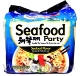 Samyang Seafood Party Ramen, 5oz, 5-bags (16-Count)