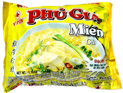 Vifon Chicken Bean Thread (Phu Gia Mien Ga) 1.7 oz, 12-Bags (6-Packs)