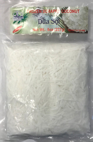 Vietnamese Lady Frozen Scraped Coconut, 8 oz (30-Count)