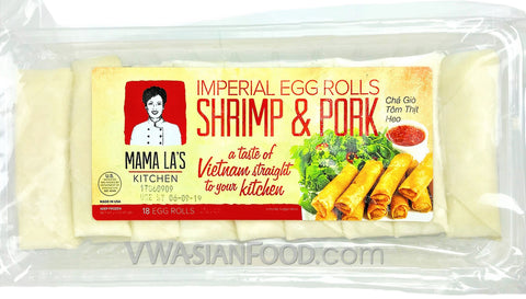 Mama La Imperial Pork Egg Rolls (18-pc) 24 oz (12-Count)